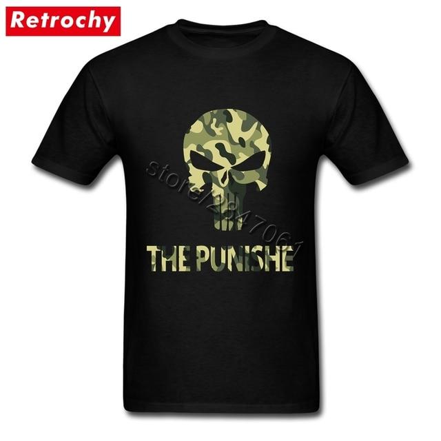 Drop Shipping Man Blank Camouflage The Punisher Shirts Short Sleeves Tshirt  Custom Design Teeshirts Teenagers Big 09c4cecd8