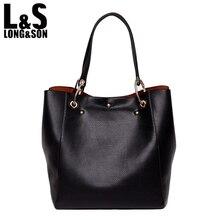L&S Large Handbags Genuine Leather Hobo Bag Elegant Soft Casual Tote Oversized Top-handle Shoulder Bags Original Design WB034