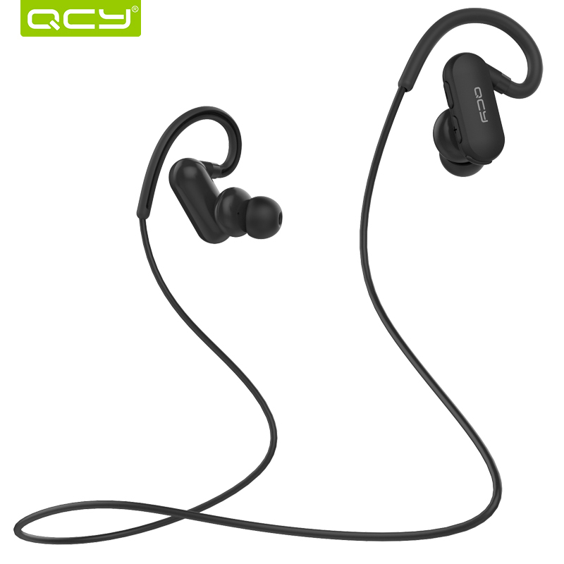 QCY Bluetooth 4.1 headphones wireless earbuds IPX4 sweatproof sports headset aptx stereo earphones with MIC for iphone android new fashion sweatproof wireless bluetooth v4 0 sports stereo headphones with mic ear hook earbuds earphones for iphone for sony