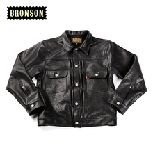 2016 BRONSON tanned sheep leather-based jacket 507XX black real leather-based Sheepskin Men's jacket
