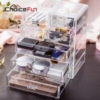 Choice fun meistverkaufte acryl make-up-aufbewahrungsbox klare kosmetische brust kleinigkeiten organizer große make schublade box sf-1549-7