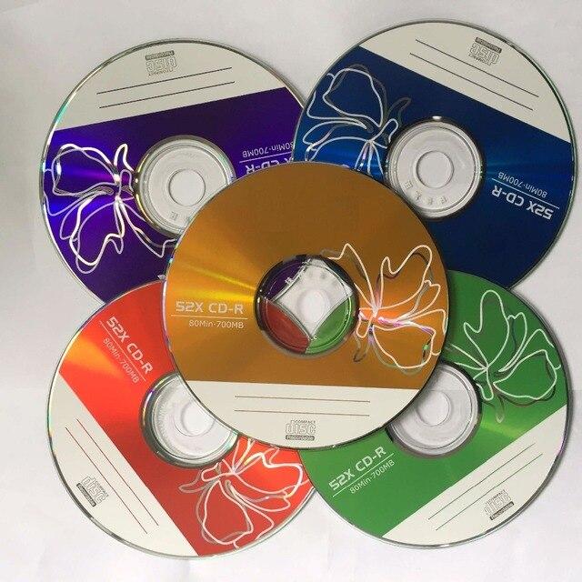 10 discs bán buôn Hạng A + 52x700 MB Trống In Nhiều Màu CD-R