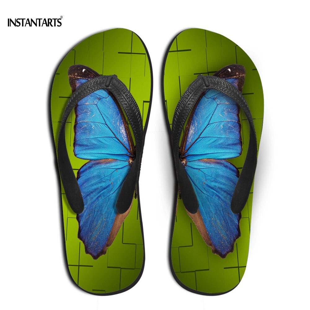 Instantarts Brand Women Summer Rubber Flip Flops Cute 3D -3423
