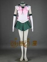 Сейлор Мун Сейлор Юпитер косплей костюм Halloween dress аниме Бесплатная Доставка на заказ первой серии