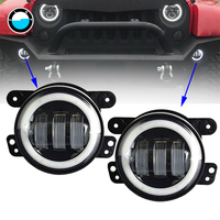 2PCS 4Inch Round Led Fog Lights 30W 6000K White Halo Ring DRL Off Road Fog Lamps