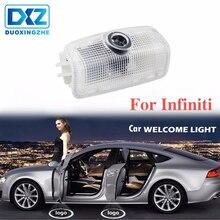 DXZ 2 pcs Porta Do Carro LEVOU Logotipo Projetor Santo Sombra Luz para Infiniti fx35 fx37 qx56 g35 g37 f50 qx60 q50 ex35