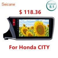 Seicane Android 8.1 2Din Wifi Bluetooth Head Unit Radio Audio GPS Multimedia Player For 2014 2015 2016 2017 Honda CITY Left