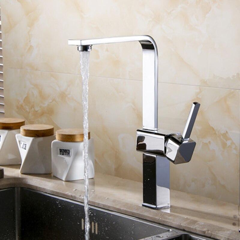 Livraison gratuite carré cuisine robinet éviers robinet de luxe cuisine mélangeur cuisine navire évier robinet robinet d'eau