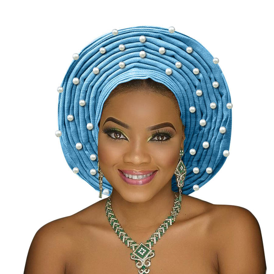 african headtie aso oke gele headtie african head wrap fashion nigerian aso ebi gele turban women aso oke head gear (6)