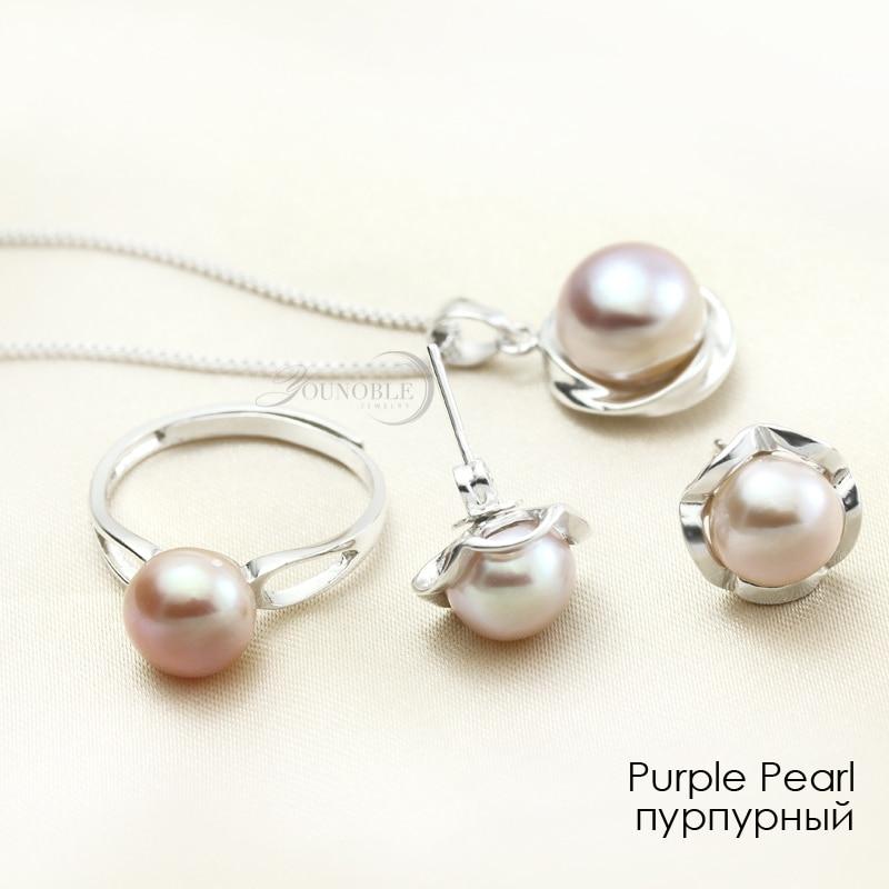 Pravi Vjenčanje Prirodni biser Nakit Kompleti 925 Srebrni naušnica - Fine nakit - Foto 5