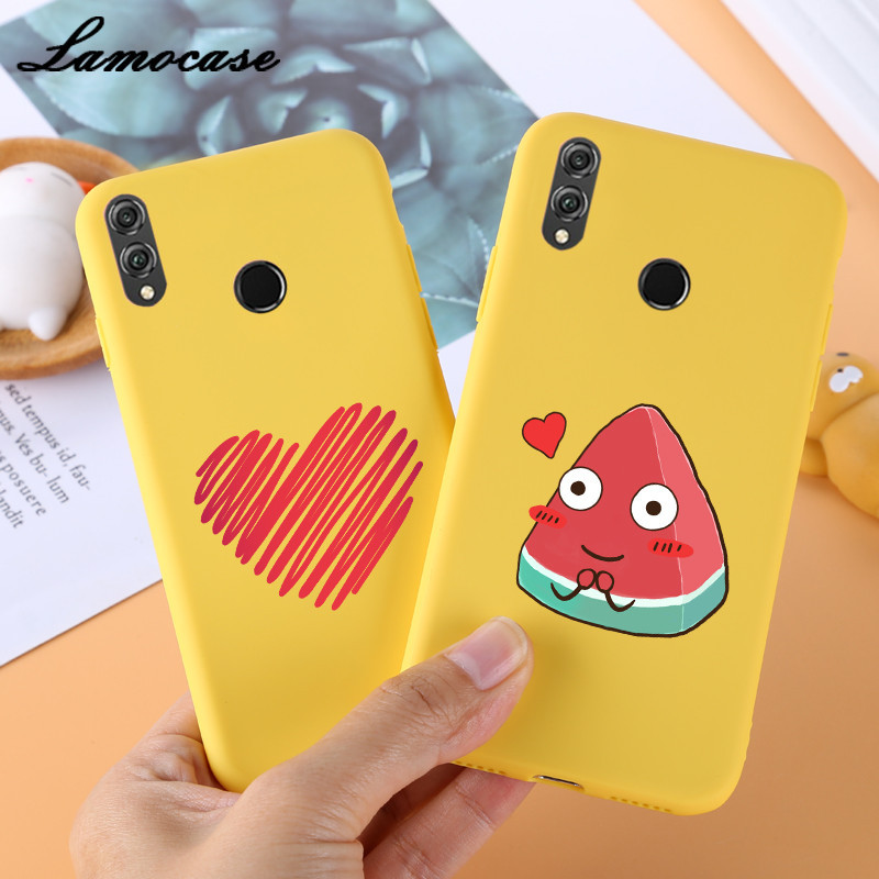 For Huawei Honor 8X Case Full Protection Soft Silicone Matte Cover Honor 8X Max Honor8X 8A 8C 8S Phone Case Funny Cartoon