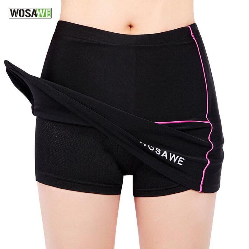 New Cycling Women Girls Skirt Short Comfortable 3D Padded Mini Skirt Riding Mountain font b Bike
