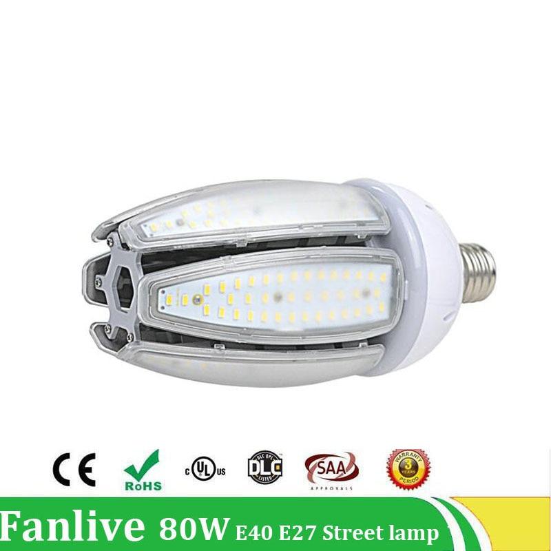 3PCS/LOT 80W 100W LED Street Lamp E40 E27 Led Corn Bulb Lamp Waterproof IP65 AC100V-277V Outdoor Lighting Industrial Light стоимость