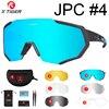 Óculos 5 lentes polarizadas para ciclismo, armação para miopia, óculos de sol para andar de bicicleta e esportes ao ar livre, unissex, X-TIGER 9