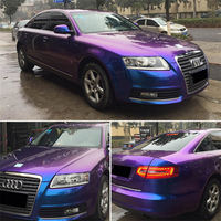 Extravagant series Car Styling Wrap Pearl Chameleon Purple Blue Car Vinyl film With Air Free Bubble For Vehicle size:1.52*20m