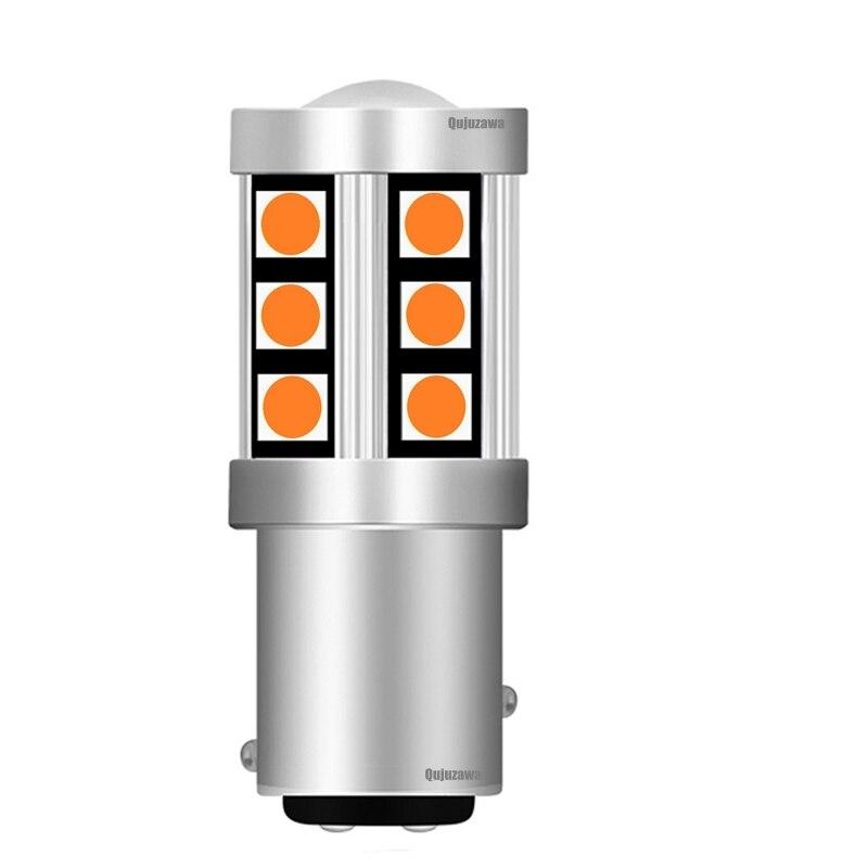1 Uds 2019 nuevo 1157 P21/5W BAY15D 3030 LED Faro de freno trasero de coche Luz de señal de giro Luz de circulación diurna automática rojo blanco ámbar amarillo