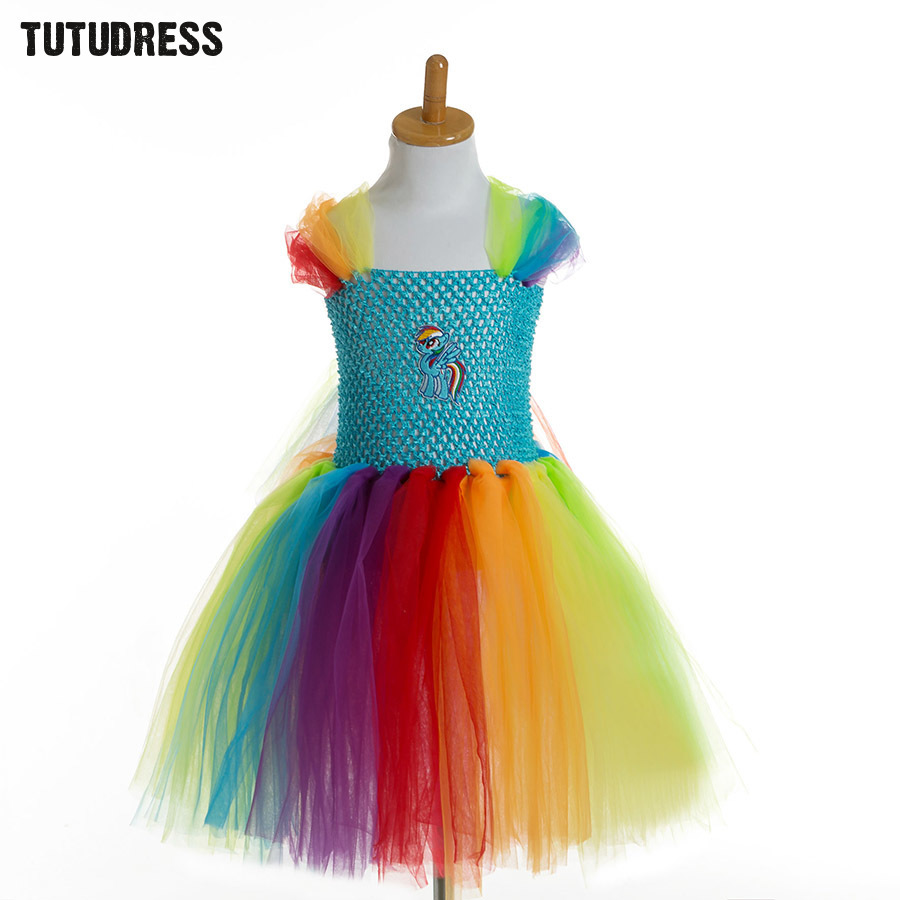 My Little Horse Baby Girls Tutu Dress Child Kids Party Birthday Tulle Dresses For Girls Cosplay Costume Cartoon Princess Dress basiс baby штанишки my little captain