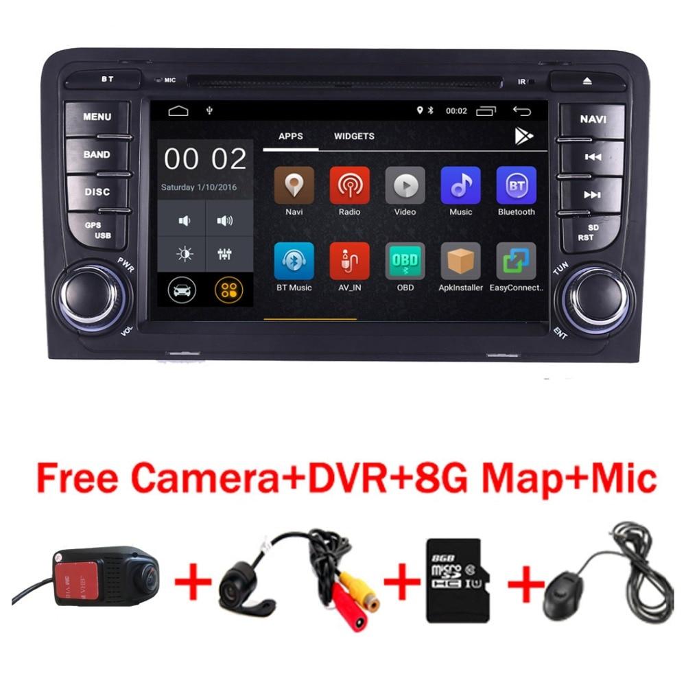 Android 8.1 Lettore DVD Dell'automobile per Audi A3 S3 GPS di Navigazione GPS Radio WiFi 4/3g OBD Bluetooth specchio di collegamento di Controllo del volante