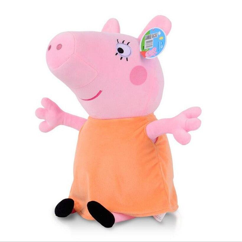 Свинка Пеппа Джордж Пейдж и кошелек плюшевые несколько стилей куклы Мягкие плюшевые мультфильм Свинья семья животных мальчики девочки игрушки - Цвет: 25cm Mom