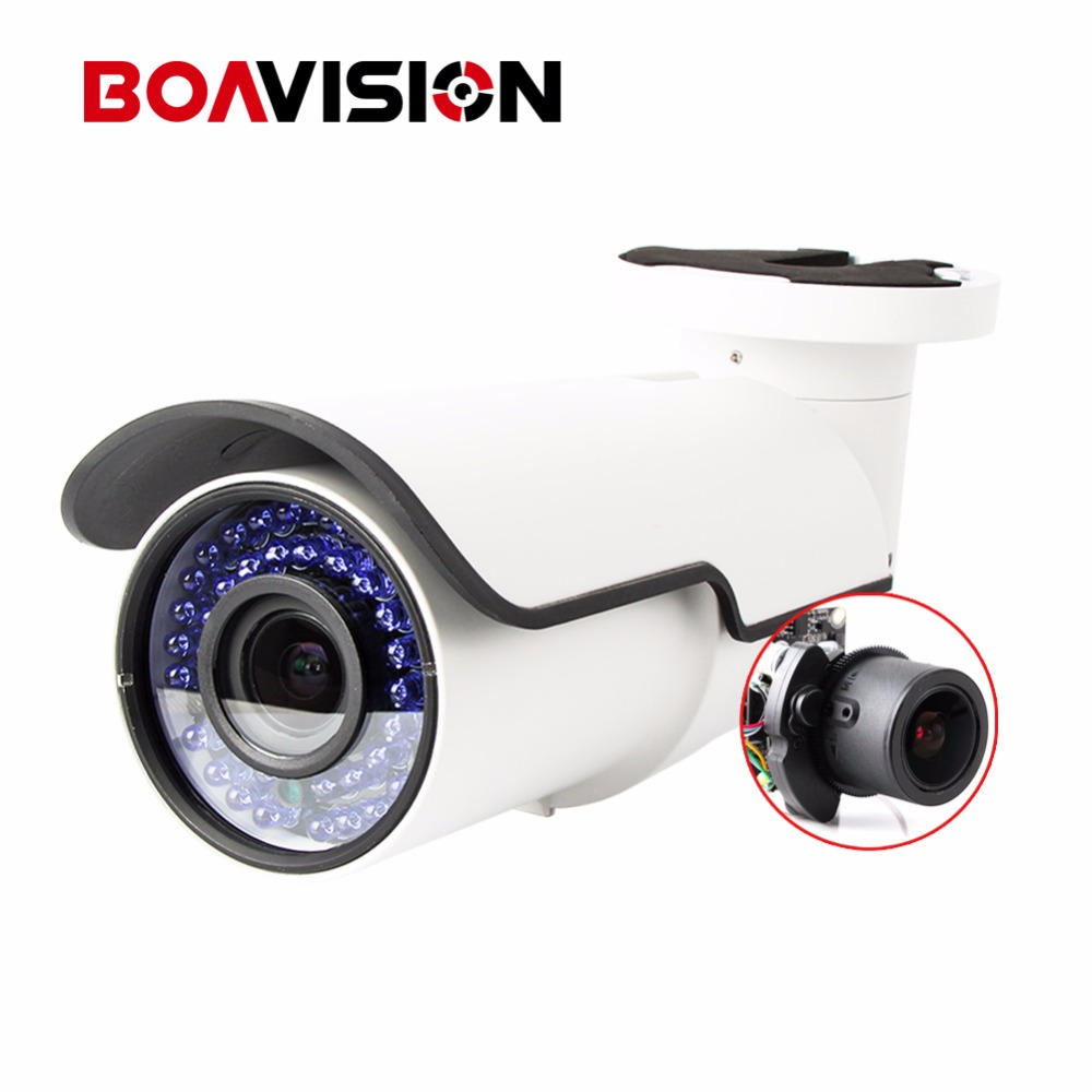 4 IN 1 HD 1080P AHD TVI CVI CVBS Camera CCTV Outdoor Bullet Security Camera Motorized Auto Zoom 2.8-12MM Lens Coaxial Control bullet camera tube camera headset holder with varied size in diameter