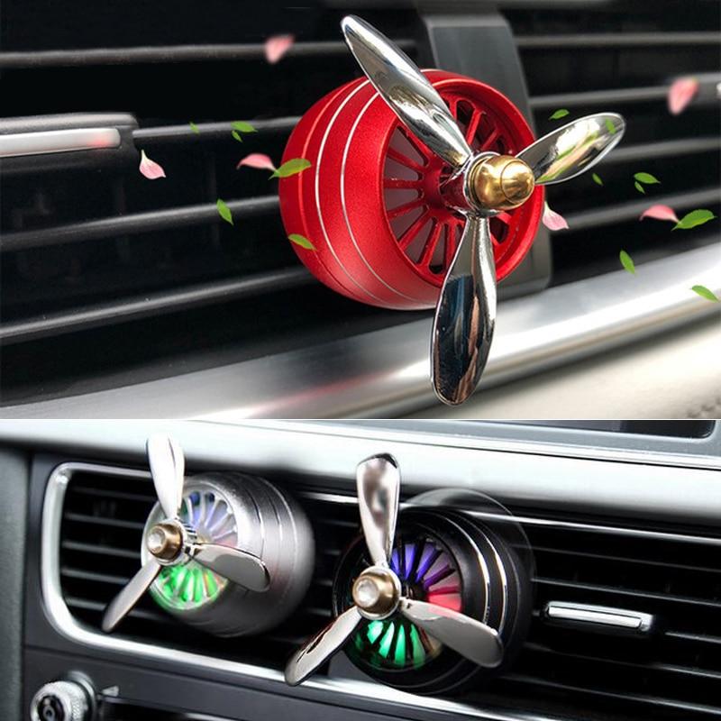 Car Air Freshener Colorful Lights Air Vent Perfume For Skoda Superb Octavia A7 A5 2 Fabia Rapid Yeti Citroen C4 C5 Grand Picasso Air Freshener