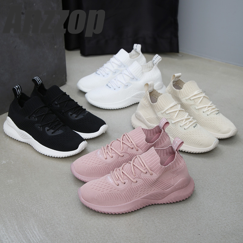 ANZZOP Fast delivery Women casual shoes fashion breathable Walking mesh lace up flat shoes sneakers women 2019 tenis feminino