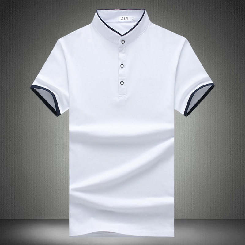 Left ROM New 2018 Summer Men's Fashion Boutique Cotton Collar Short Sleeve   POLO   Shirt / Big Size Slim Male Casual   POLO   Shirts