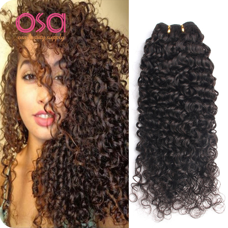 Brazilian Virgin Hair Deep Curly Virgin Hair Weave 3