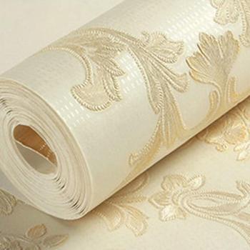 Papel pintado Damasco europeo de lujo para la decoración de la sala de estar papeles tapiz decoración del hogar Papel de pared 3d EZ168