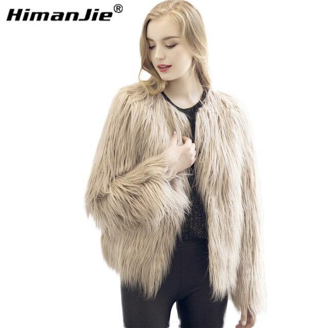 Chic soft faux fur coat mujeres Fluffy caliente de manga larga femenina prendas de vestir exteriores negro elegante otoño invierno chaqueta de abrigo peludo