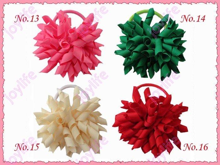 20 шт 3 ''Мода коркер резинка для волос смешанные цвета ленты Женский бант для волос заколки аксессуары