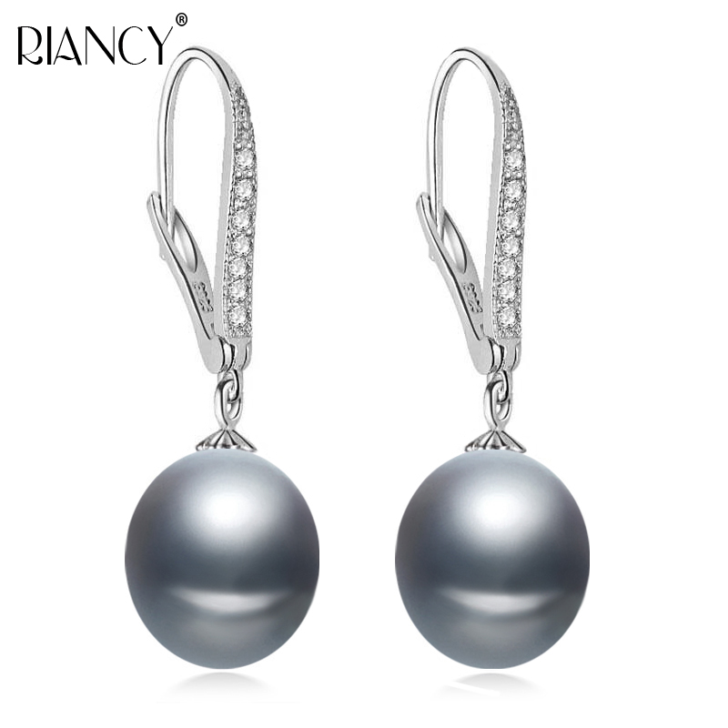 Fashion real 925 sterling silver earrings with natural pearl earring clip freshwater pearl earrings for women pearl jewelry gift
