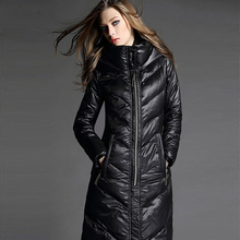 Nice New Long Winter Jacket Women White Duck Down Women's Winter Jacket Thick Warm Winter Coat Women Knee Down Parka XXXL AW1182