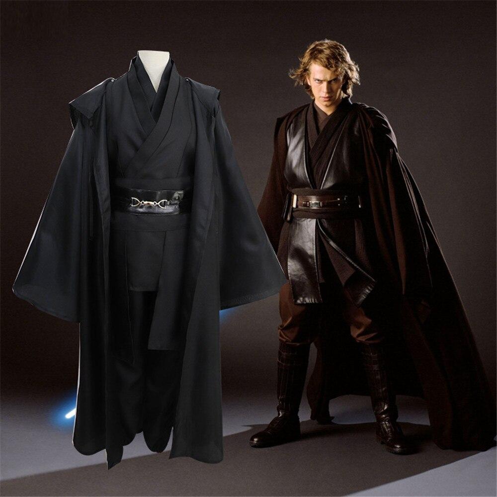Dark Vador Éponge Jedi Noir Robe Chevalier Jedi À Capuche Manteau Anakin Skywalker Halloween Cosplay Costume Cap Pour Adulte ensemble complet