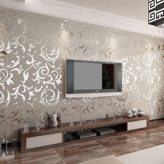 Mewah Non Woven 3D Timbul Wallpaper Dinding Latar Belakang Televisi Kertas Klasik Kertas Dinding Rumah Dekor Untuk Ruang Tamu Kain Sutera Wallpaper|wall Papers Home Decor|tv Backgroundembossed Wallpaper - AliExpress