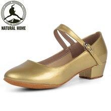 NaturalHome kadın Çocuk Çocuk Kız Salsa Latin Tango Balo Salonu Dans Ayakkabı Kadın Dans Ayakkabıları Topuk 3.5 cm