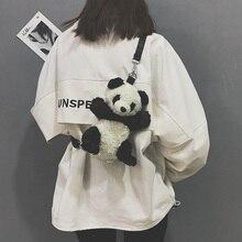 Candice guo плюшевые игрушки кукла мультфильм животных панда сумка через плечо pacakge рюкзак школьный детский подарок на день рождения 1 шт
