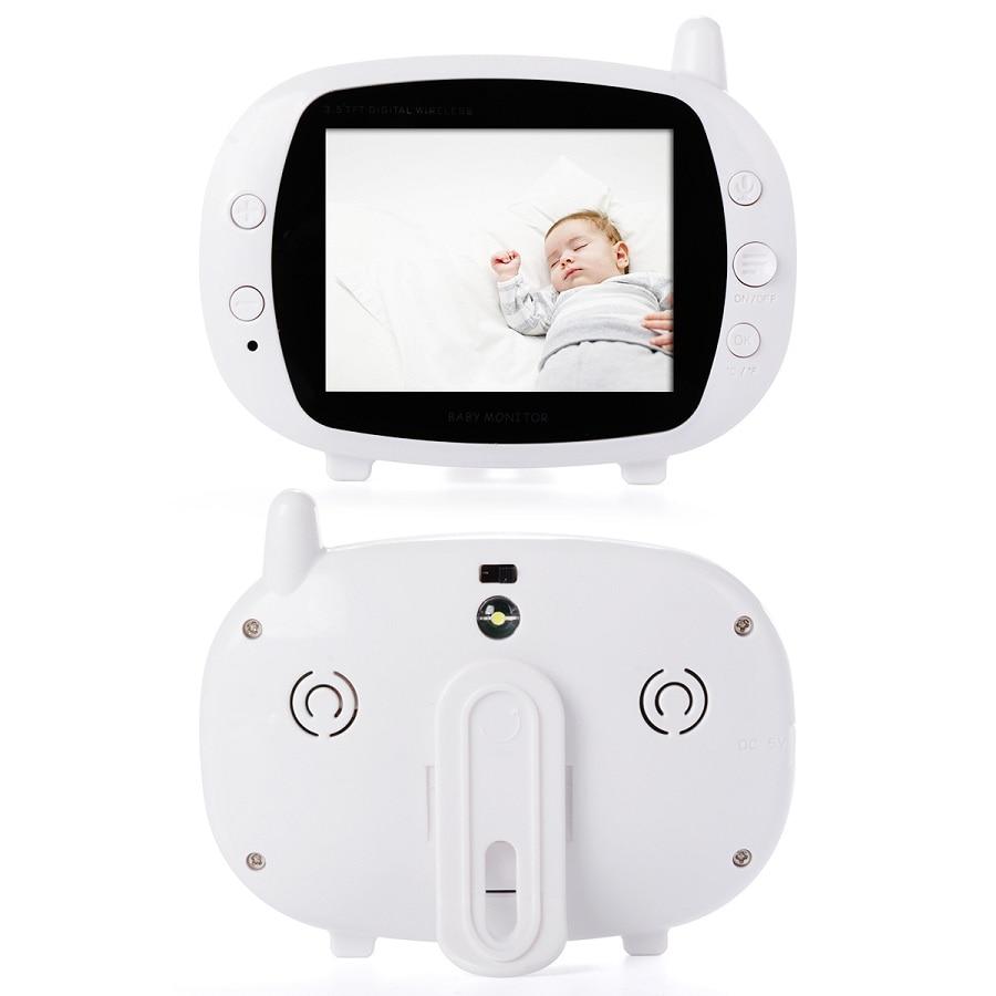 Babykam Radio Babysitter video nanny 3.5 inch 2 way talk IR Night vision Temperature monitor 4 Lullabies Detector Fetal Doppler