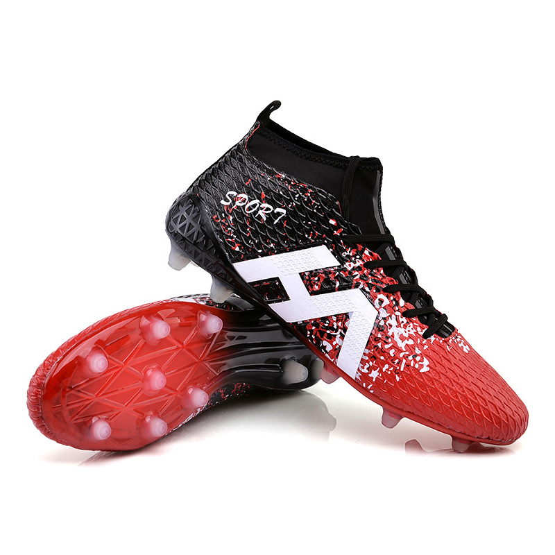 New Adults Men's Soccer Cleats Football Soccer Shoes Firm Ground Outdoor Football Boots Athletic Training Sports Shoes Sneakers puma powercat 1 12 sl firm ground fg mens soccer cleats