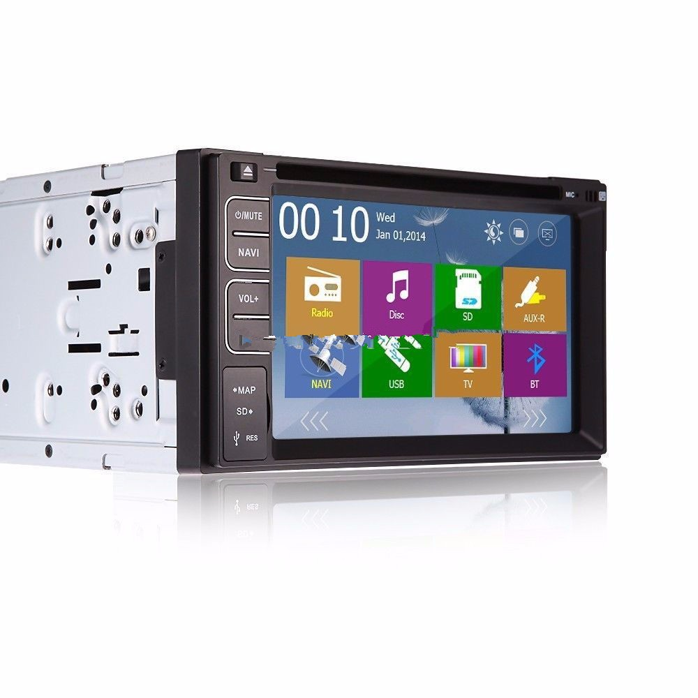6.2 Touch Screen Car DVD Navigation Player 2 Din Car Radio Stereo With FM/AM USB/SD Bluetooth TV Remote Control Without GPS