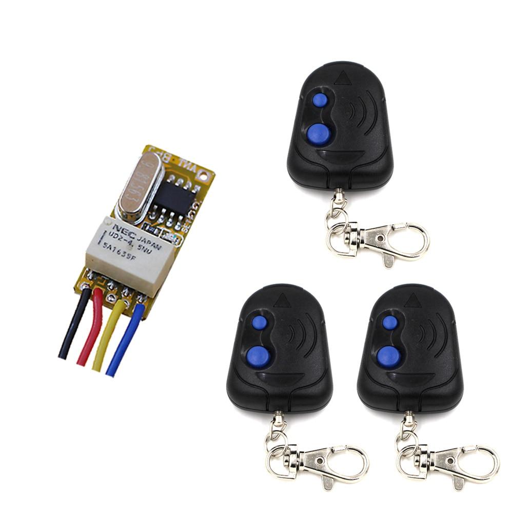 Latest Access Control System 3.7V 4.5V6V 7.4V 9V 12V Electromagnetic Lock Remote Control Switch Wireless Door Open Close 315/433
