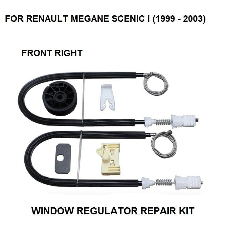 WINDOW REGULATOR COMPLETE CLIP SET RENAULT MEGANE SCENIC I WINDOW REGULATOR REPAIR KIT FRONT RIGHT SIDE