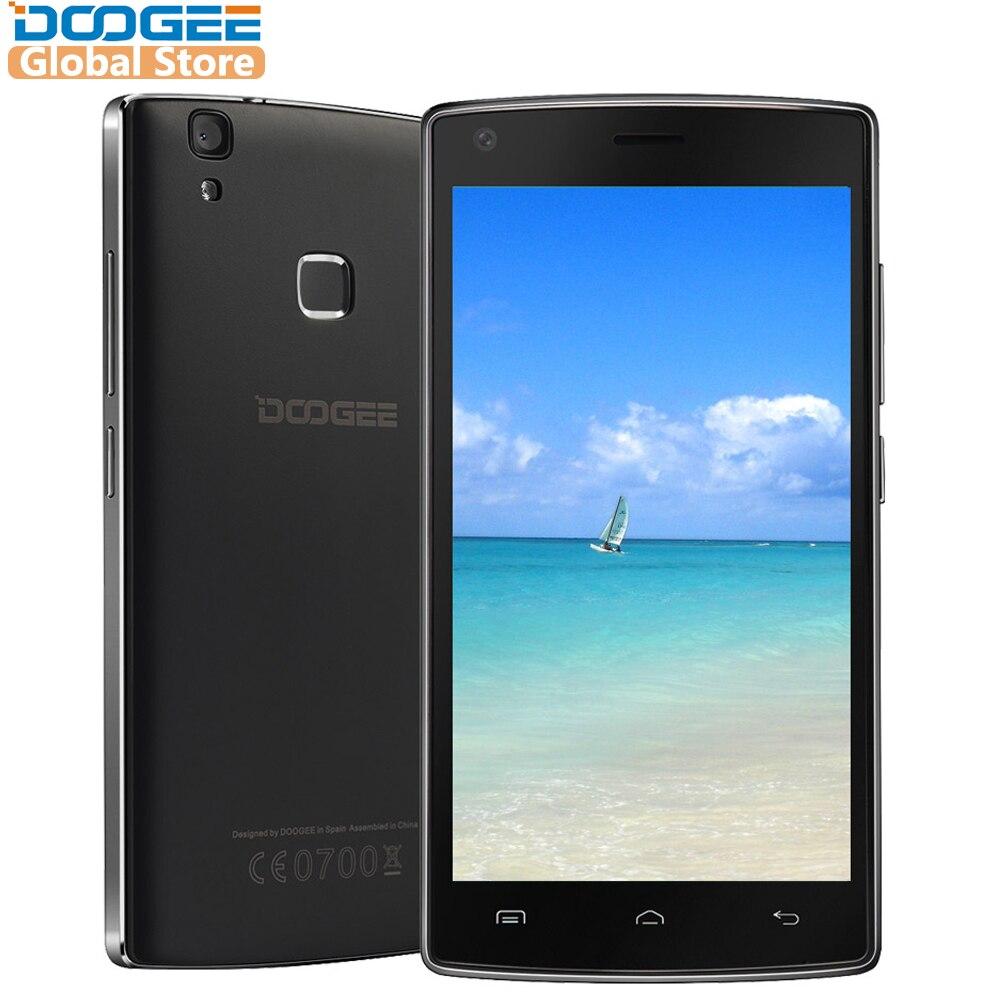 DOOGEE X5 Max pro de huellas dactilares de los teléfonos móviles de 5,0 pulgadas HD Android6.0 Dual SIM MTK6737 Quad Core 4000 mAh WCDMA LTE GPS