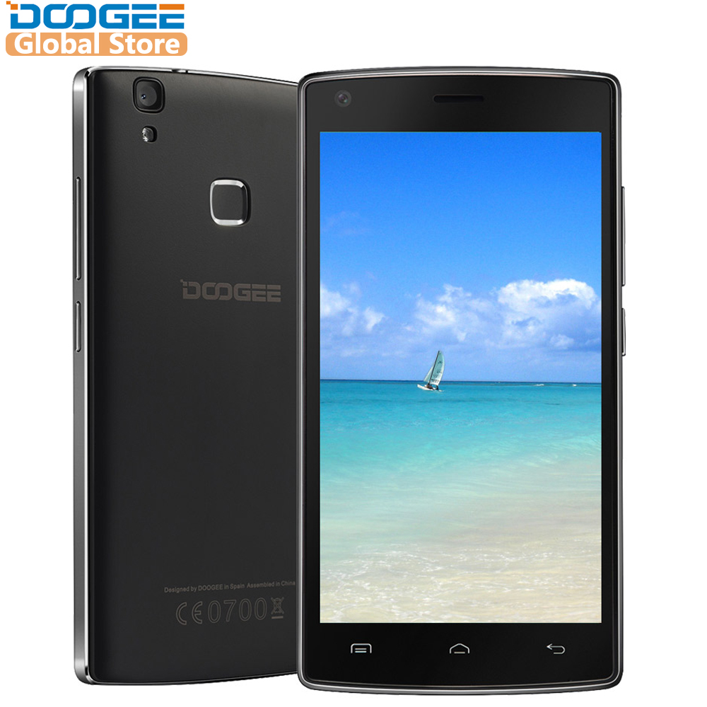 DOOGEE X5 Max pro Fingerprint handys 5,0 Inch HD Android6.0 Dual SIM MTK6737 Quad Core 4000 mah WCDMA LTE GPS