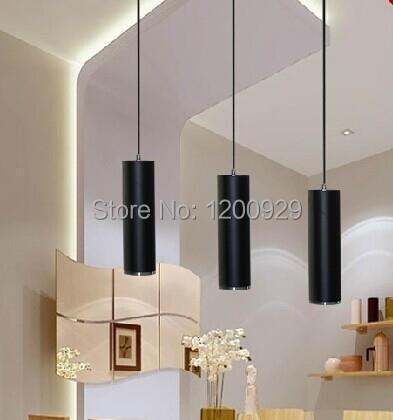 ФОТО 28cm/48cm/68cm/1m Black Free Shipping Modern LED Creative Aluminum Long Column Pedant Light Home Decoration Lamp PLL-379