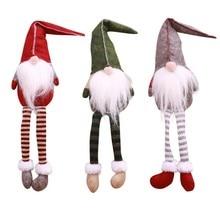 Christmas Swedish Santa Claus Tomte Gnome Plush Doll Long Leg Handmade Collectible Dolls Decorations For Home