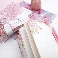 Свежесть Sketchbook Красивая вишня Сакура магнитная пряжка дневник ноутбук