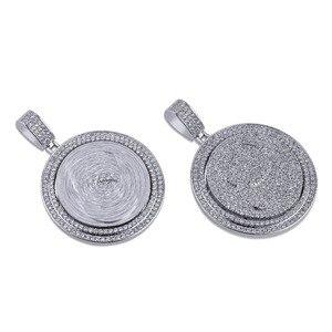 Image 3 - TOPGRILLZ QC Spinner mektup kolye kolye buzlu Out Hip Hop/Punk altın gümüş renk zincirleri CZ uğurlu takı hediye