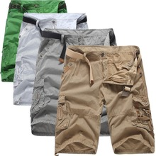 Лето в полоску короткие Для мужчин повседневные брюки-карго по колено плавки Для мужчин пять брюки мода мешковатые шорты плюс размер 38