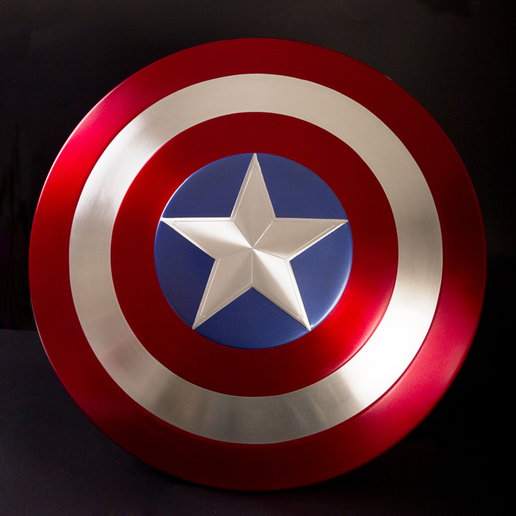 Captain America 1:1 full metal shield  Captain America's shield 1:1 aluminum alloy avengers alliance All metal film version metal colour the avengers civil war captain america shield 1 1 1 1 cosplay steve rogers metal model shield adult replica wu525